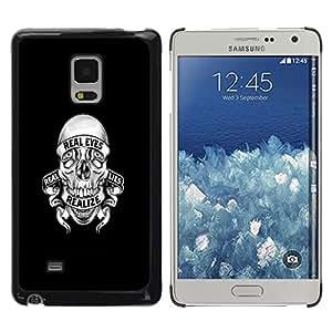 LECELL--Funda protectora / Cubierta / Piel For Samsung Galaxy Mega 5.8 -- REALIZE MENTIRAS CRÁNEO --