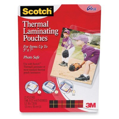 corp scotch thermal laminating pouches