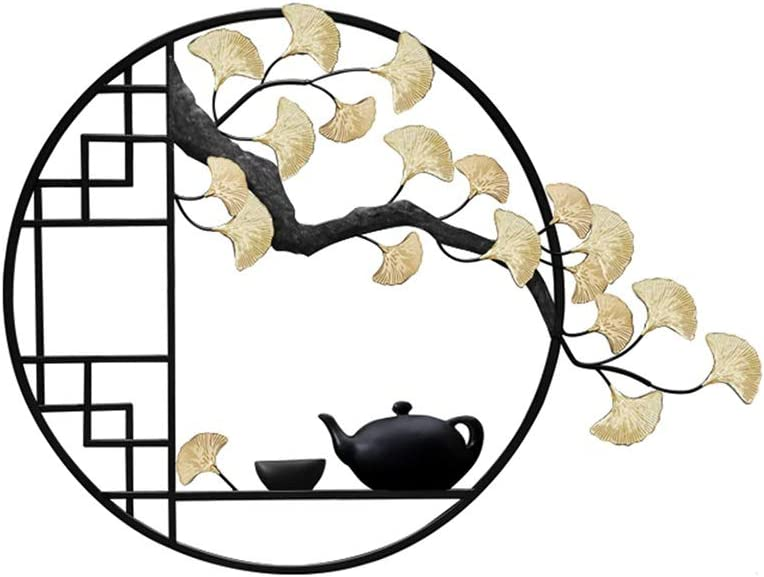 Caixia, Adornos Feng Shui Pared del Hierro labrado acogedoras Habitaciones Pino Zen Colgar de la Pared de la Sala Comedor decoración de la Pared Creativa del pórtico Pared Colgante (Color : A)