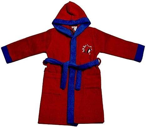 sun city Accappatoio Spiderman Bambino 4-5 anni 6-7 anni 8-9 anni 100/% cotone