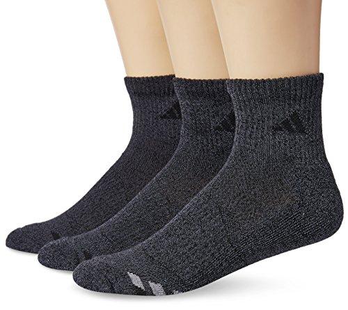 adidas Men's Cushioned Quarter Socks (3-Pack), Orange/Light Onix, Size ()