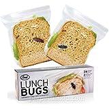 Fred FFLBUG Lunch Bugs Sandwich Bags, 24 Bags in 2 Designs
