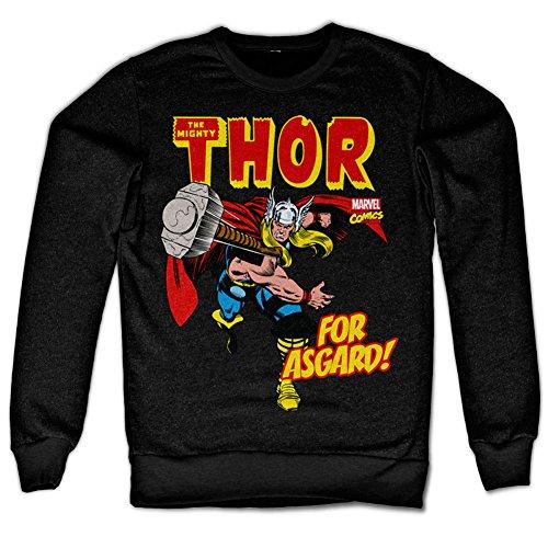 The Mighty Thor - For Asgard! Sweatshirt (Black), XX-Large