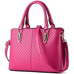 TcIFE Women Top Handle Satchel Handbags Tote Purse, Pink, One Size