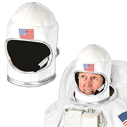 Beistle 60041 Plush Astronaut Helmet, White/Red/Blue
