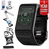 Beach Camera Garmin (010-01605-03) vivoactive HR GPS Smartwatch, Regular Fit - Black w/Fitness Bundle Includes, 7-Pieces Fitness Kit + 1 Year Extended Warranty