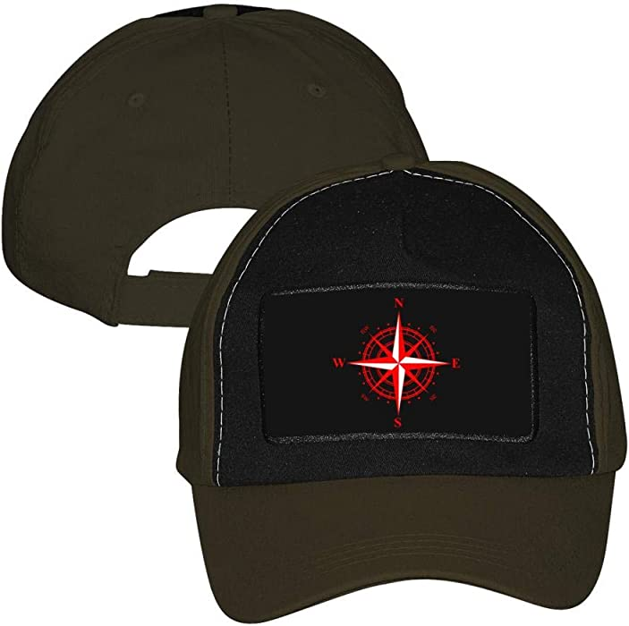 d363cd05072be Unisex Adjustable Baseball Cap Vintage Style Red Compass Rose Nautical  Sailing Trucker Hat Sports Mesh Hat Army Green at Amazon Men s Clothing  store