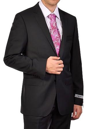 Amazon.com: DKNY traje en negro sólido, 44 corto, Negro ...