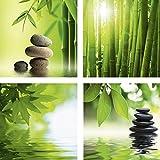 Wellness bilder steine  Wandbild Glasbild Acrylglasbild für Badezimmer Spruch Wellness ...
