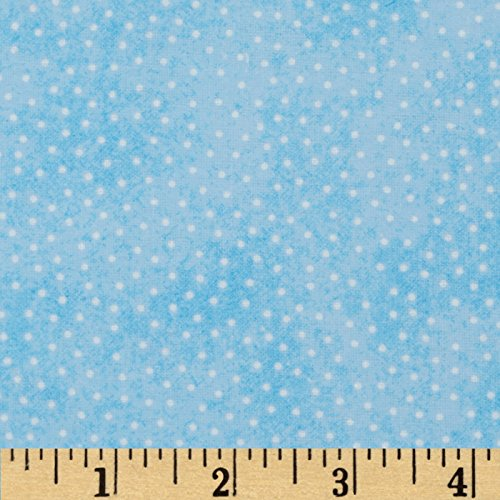 A.E. Nathan Comfy Flannel Micro Dot Blue Fabric By The Yard Nathan Comfy Flannel