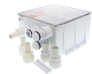 Rule Industries White Standard 98B Shower Drain Kit 800 GPH 12V