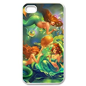 Iphone 4,4S Little mermaid Phone Back Case Personalized Art Print Design Hard Shell Protection JK067260 hjbrhga1544