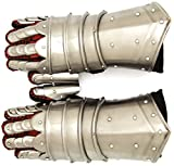 #5: Medieval Warrior Metal Gothic Knight Style Gauntlets Fully Functional Armor Gloves