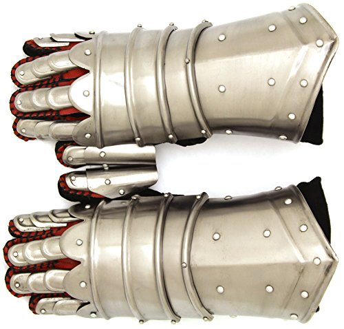 Medieval Warrior Metal Gothic Knight Style Gauntlets Fully Functional Armor (Medieval Gauntlets)