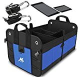 Car Trunk Storage Organizer, Auto Portable Collapsible Trunk Organizer H-Zonealp Heavy Duty Cargo Storage Carrier with Straps for Car/Truck/SUV/Van (NEW Version)