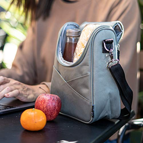 JuJuBe | Be Cool Insulated Baby Bottle Cooler Bag | Machine Washable | Fits 2 Large Bottles | for All Ages, Babies & Adults | Olive