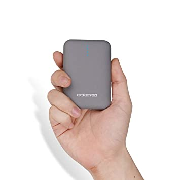 ockered Batería Externa Power Bank 10000Mah, Cargador Portátil Móvil con 2 Puertos Salidas USB Alta Velocidad y LED, Compatible con iPhone, iPad, ...