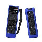 SIKAI Remote Case for Vizio XRT500 Smart TV Remote [Eco-Friendly] Case for VIZIO Smart LCD LED TV Remote Control [Shock Proof] Silicone Cover for Vizio XRT500 Remote with Lanyard (Blue)