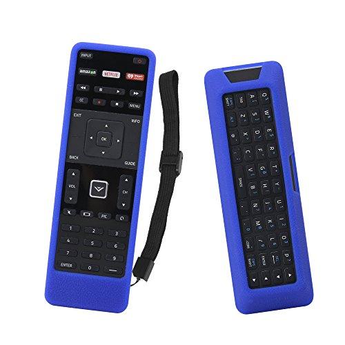 (SIKAI Remote Case for Vizio XRT500 Smart TV Remote [Eco-Friendly] Case for VIZIO Smart LCD LED TV Remote Control [Shock Proof] Silicone Cover for Vizio XRT500 Remote with Lanyard (Blue))