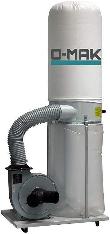 Aspirador para serrín y viruta O-MAK AS202T. 2 caballos. Trifásico.: Amazon.es: Bricolaje y herramientas