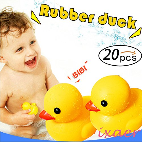 Rubber Ducks, Kids Educational Bathing Toy,ixaer Rubber Race Squeaky Duck Dolls, Rubber Race Duck, Bath Toy for kids. ()