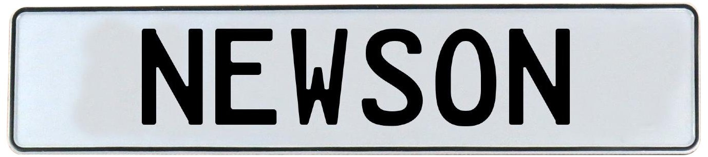 Vintage Parts 716420 Wall Art Newson White Stamped Aluminum Street Sign Mancave