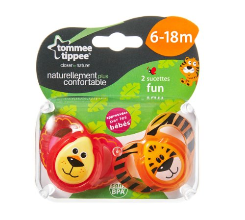 Tommee Tippee Closer to Nature Fun Style 2 Orthodontic Soothers 6-18m