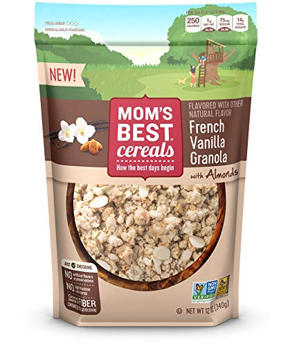 Mom's Best French Vanilla Granola Cereal, 6Count