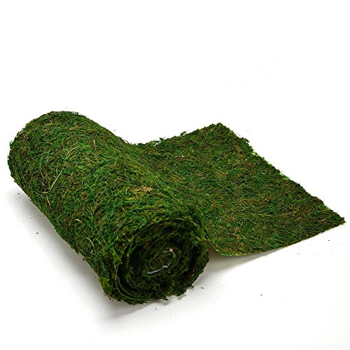 Byher Dried Moss Table Runner for Party Garden Decoration, Dark Green (30cm X 180cm (12