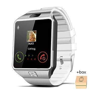 YWHY Relojes Bluetooth Smart Watch para Hombre Deportes Smartwatch Android Llamada De Teléfono 2G gsm Sim TF Tarjeta De La Cámara para El Teléfono, ...