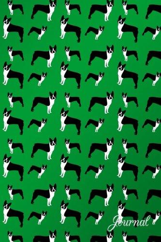 Journal: Green dogs boston terriers notebook