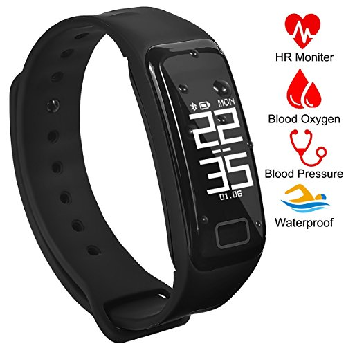 Fitness Tracker Activity Tracker Band with Oxygen Blood Pressure/Heart Rate/Sleep Monitor Pedometer...