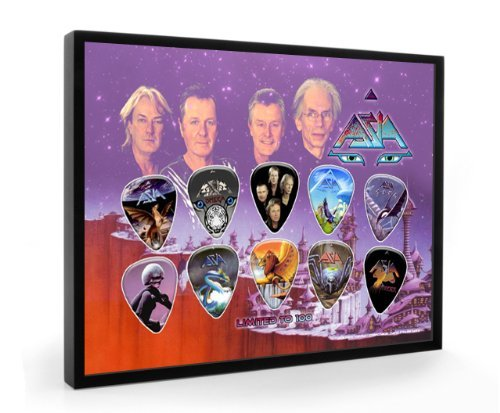 Asia Framed (Asia Limited to 100 Framed Guitar Pick Display by Classic Rock Guitar)