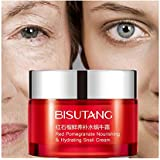 Hometom Pomegranate extract Acid Snail Essence whitening HYDRATING Skin Care Face Cream (Red)