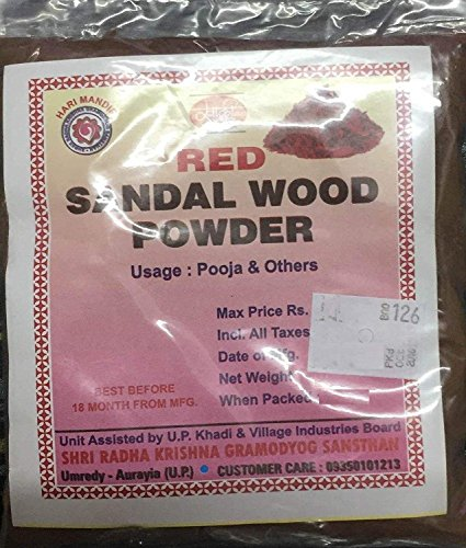 - Khadi Special Sandalwood Powder For Face pack,Worship & Auspicious occasions (Red Sandalwood 100 Grams)