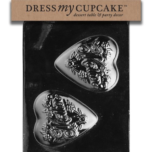 Dress My Cupcake DMCD020SET Chocolate Candy Mold, Mother Heart, Set of 6