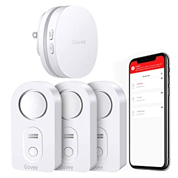 Govee WiFi Water Alarm, Smart APP Leak Alert, Wireless Water Sensor and Alarm with Email, Notification, App Alerts, Remote Monitor Leak for Home ...