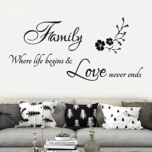 YJYDADA Wall Stickers,Family Removable Art Vinyl Mural Home Room Decor(85cm x 40cm) ()