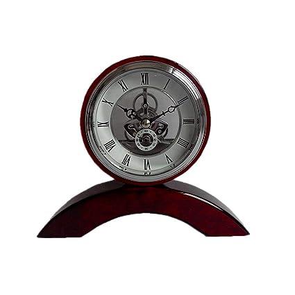 Relojes de mesa Reloj de Escritorio Engranajes Sala de Estar Decoración Sin tictac Batería silenciosa Operado