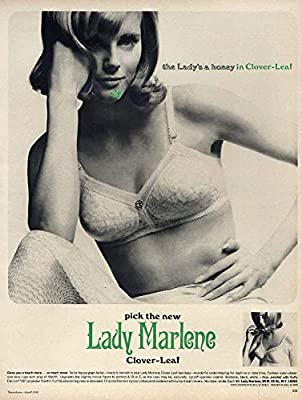 The Lady's a Honey in Lady Marlene Clover-Leaf Bra ad 1966 17 at