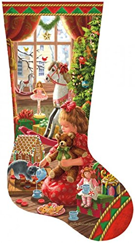 A Girl's Stocking Shaped 800 Piece Jigsaw Puzzle