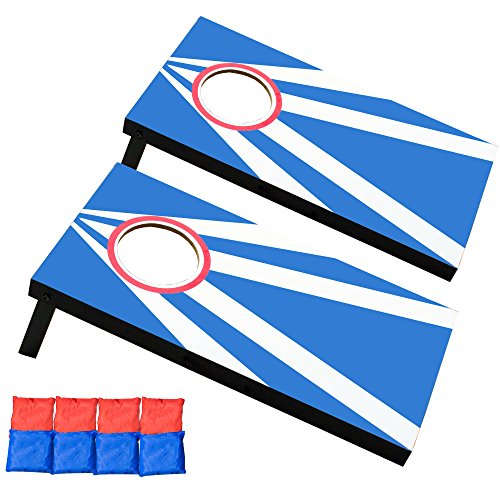 [Play Platoon Mini Cornhole Game Set with Bags & Boards - Play Junior Corn Hole at Your Desk] (Blue Drinking Hat)