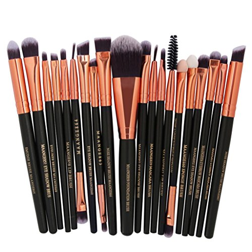 20 Pieces Makeup Brush Set, Staron Makeup Brushes Kit Foundation Face Eye Shadow Eyeliner Blush Lip Cosmetic Powder Cosmetics Blending Makeup Brush Tool (A)