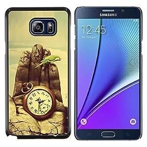 YiPhone /// Prima de resorte delgada de la cubierta del caso de Shell Armor - Pintura Tiempo Significado Profundo Naturaleza Vignette - Samsung Galaxy Note 5 5th N9200