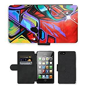 PU Cuir Flip Etui Portefeuille Coque Case Cover véritable Leather Housse Couvrir Couverture Fermeture Magnetique Silicone Support Carte Slots Protection Shell // V00002332 Pintada // Apple iPhone 4 4S 4G