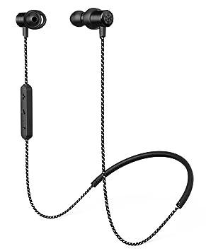 Rhidon Auriculares Bluetooth, BL Auriculares ergonómicos inalámbricos de negocios y deporte Auriculares estéreo, Cancelación