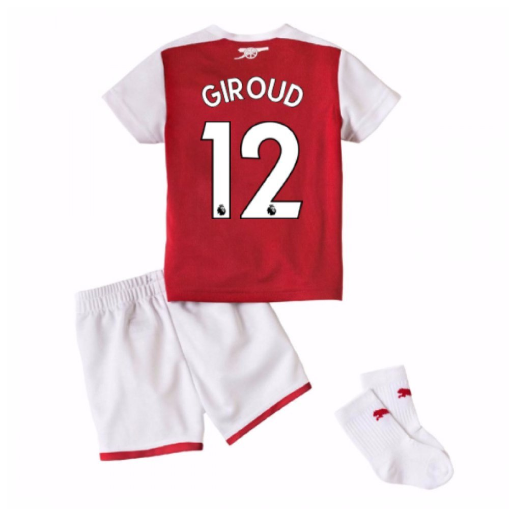 2017-18 Arsenal Home Baby Kit (Giroud 12) B077PRTW54Red 9-12 Months