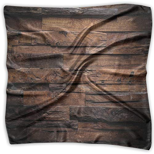 Bandana Head and Neck Tie Neckerchief,Rough Dark Timber Texture Image Rustic Country Theme Hardwood Carpentry,Headband