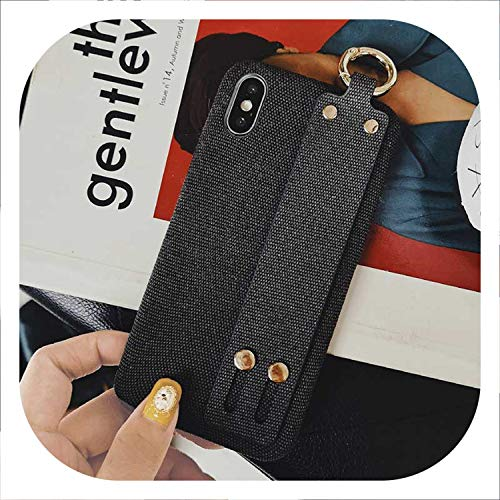 Axia Mats - New-Challenge Wrist Strap Phone Case for iPhone Xs Max XR X 6 6s 7 8 Plus Fashion Crocodile Leopard Cloth Embroidery Silicone Soft Case,12,for iPhone XR