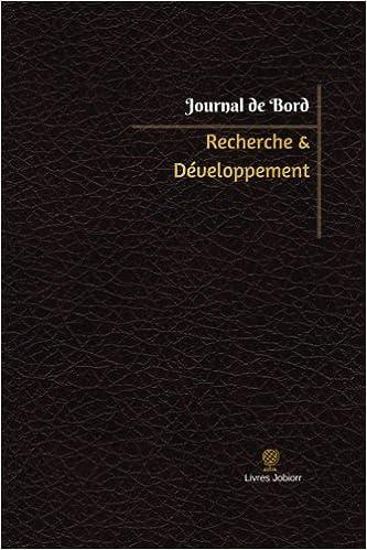 Amazon Com Recherche Developpement Journal De Bord